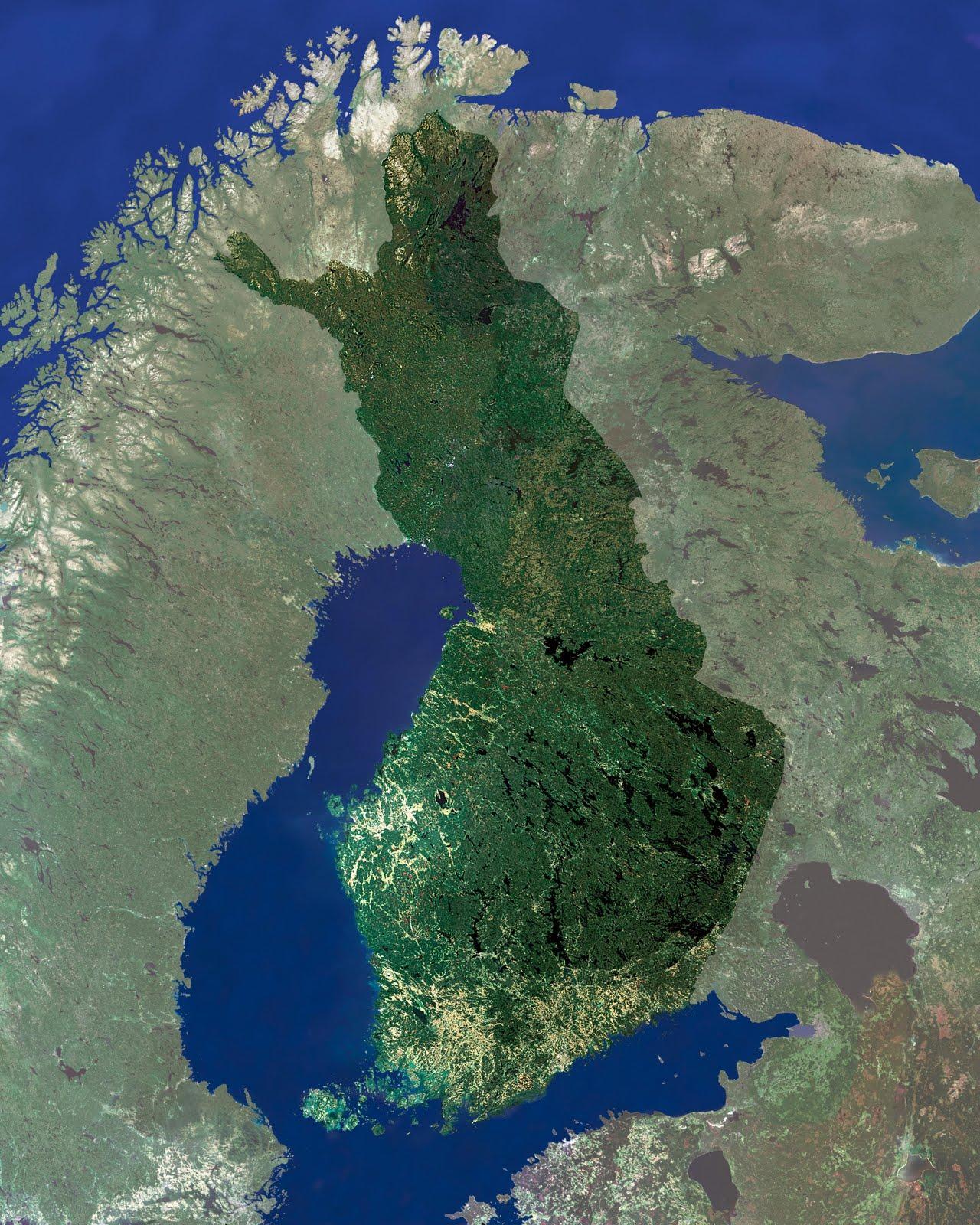Satelliittikuva Suomi