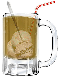 Real Root Beer Float Using Sugar-Free Vanilla Ice Cream