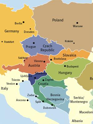 Cartina Geografica Europa Budapest.Mapa Di Europa Politico Regione Mappa Dell Europa Orientale Politico