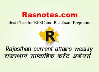 Rajasthan GK-Rajasthan current affairs weekly