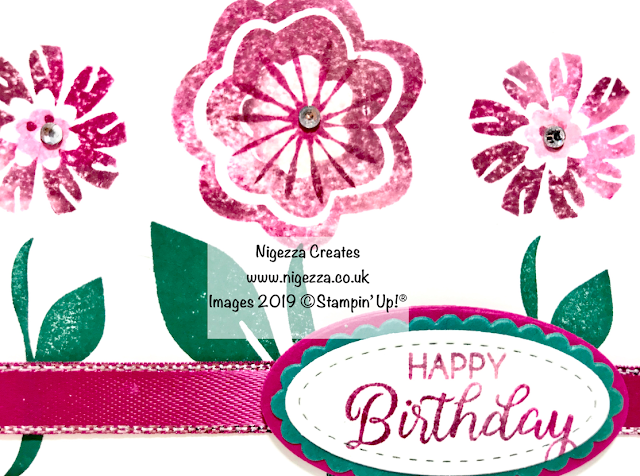 Nigezza Creates, Stampin' Up! Baby Wipe Card #2 Bloom By Bloom Birthday Card: Stampin' For All DT Challenge