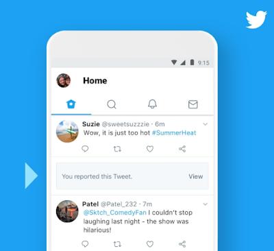 ستقدم تويتر مزيداً من الوضوح على التغريدات التي تم الإبلاغ عنها
