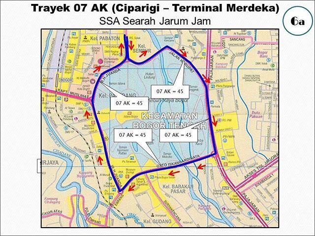 Rute Angkot Ciparigi-Terminal Merdeka