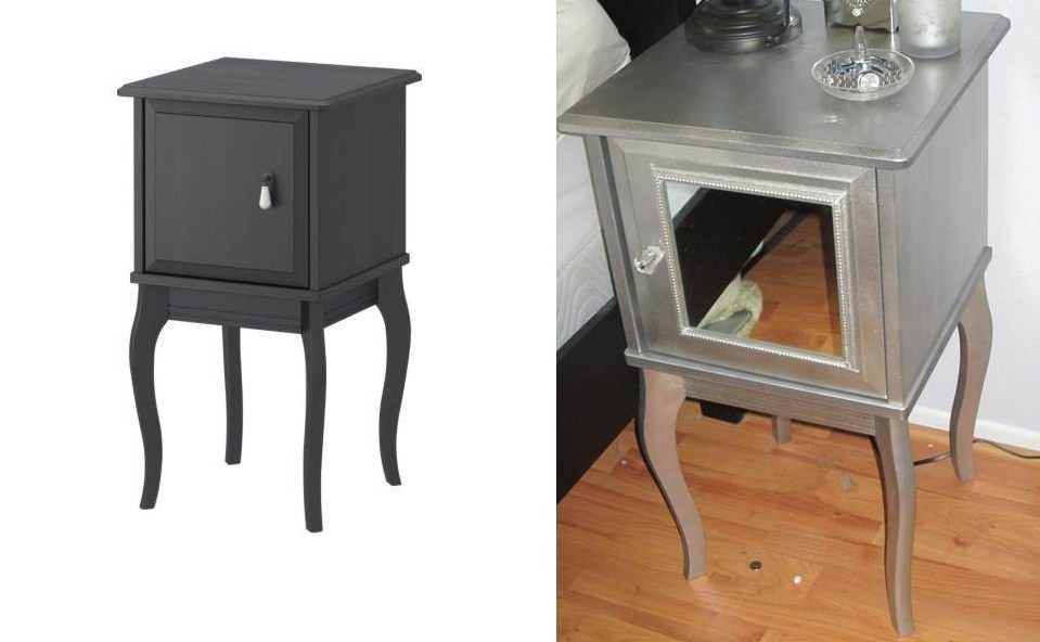 Ikea hack Edland night stand: Mirrored look - Home Decoration Views