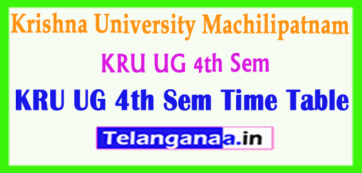 KRU Krishna University Machilipatnam UG 4th Sem Time Table