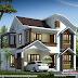 Wavy roof mix Kerala home design