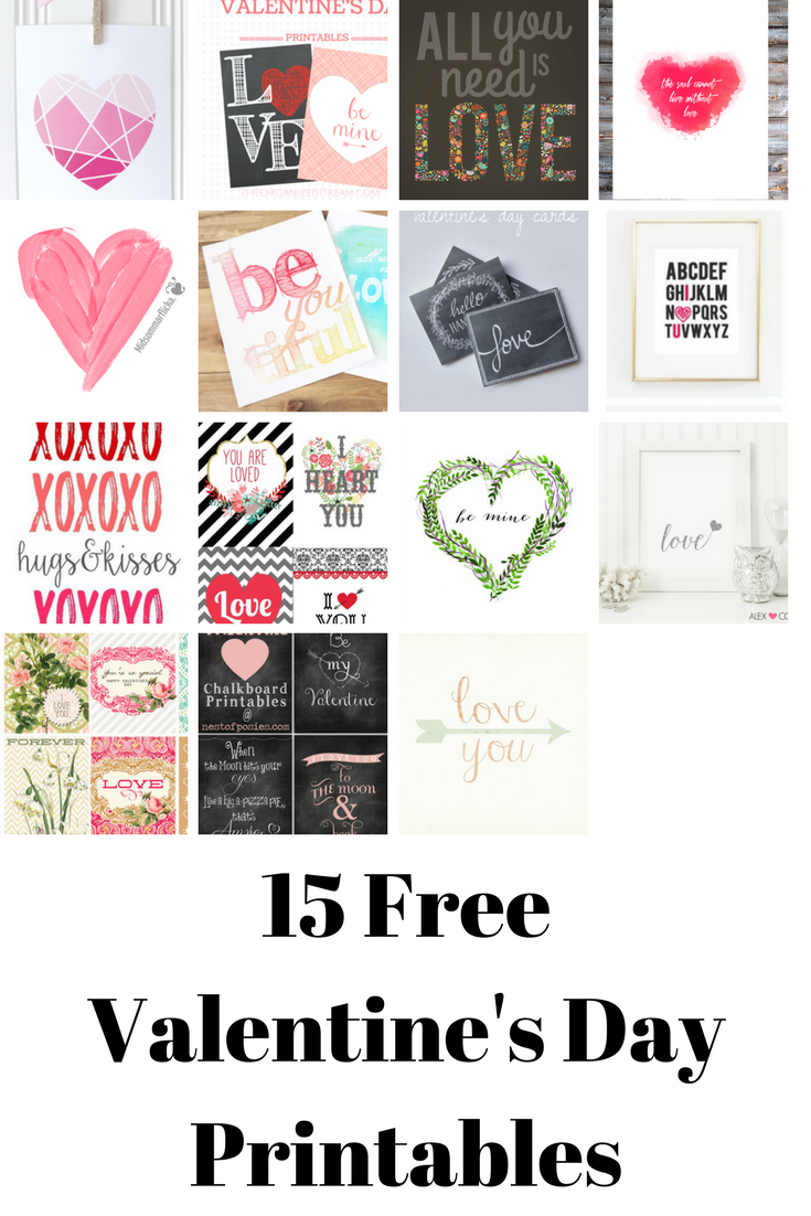 Cute and Free printables for Valentine's Day decor! Check them out and set them up around your house for a quick way to embrace the holiday.