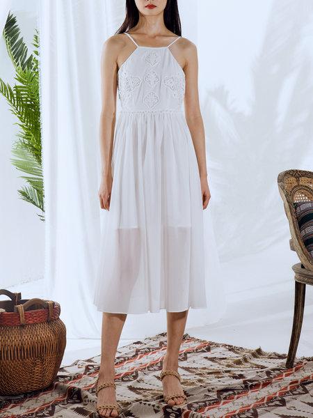 https://www.stylewe.com/product/white-pierced-simple-midi-dress-55570.html