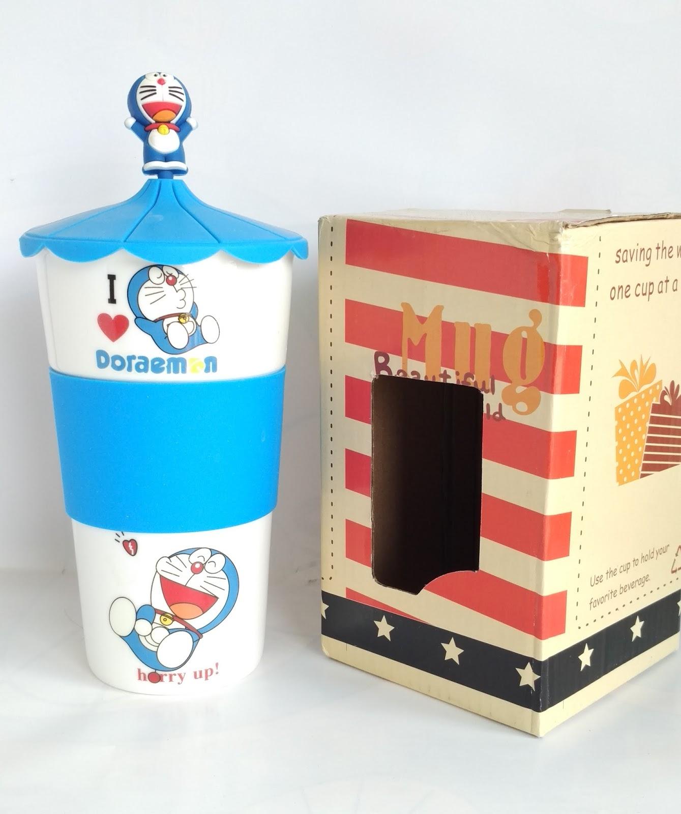 Gelas Keramik Doraemon; gelas doraemon; pernak; pernik doraemon;gelas keramik;mug; doraemon;mug kerami; mug doraemon; pernak pernik doraemon; doraemon collections