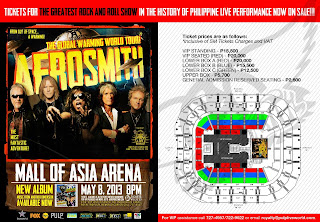 Aerosmith Live in Mall of Asia Arena (MOA) Manila, Philippines