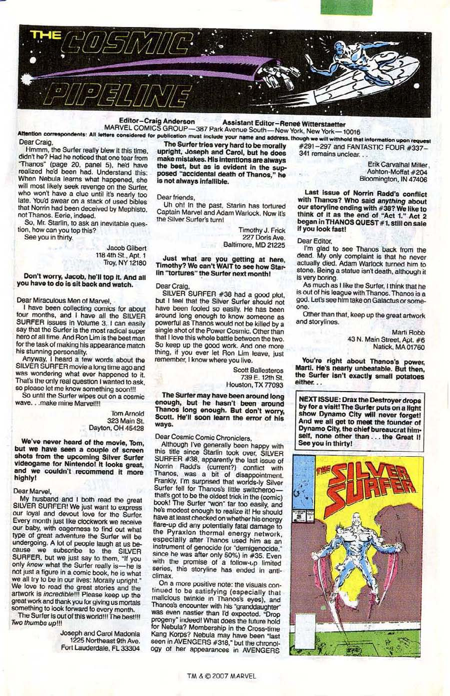 Read online Silver Surfer (1987) comic -  Issue #41 - 33