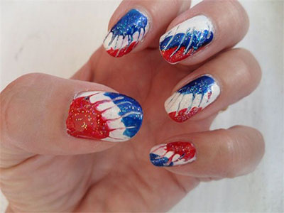 Happy 4th Of July 2017 Nail Arts-Happy Independence Day 2017