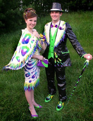 thebigfront: Duct Tape Prom Dresses  Duct