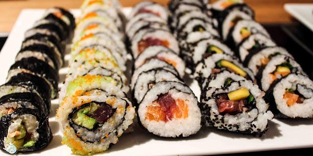 Sushi mmit Lachs Thunfisch Avocado