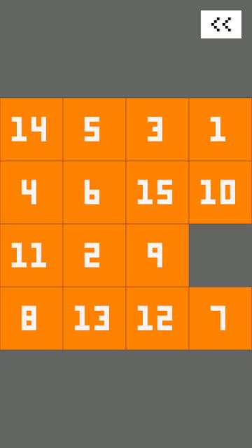 Fifteen puzzle, sliding puzzle, tile puzzle