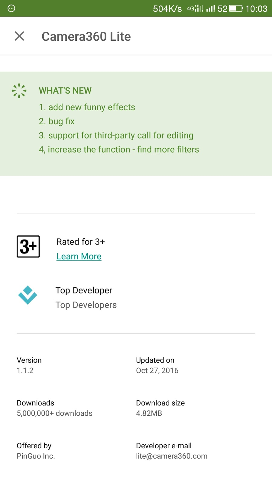 Camera 360 Lite Download from Play Store | New Update - NRTrickHub