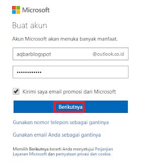 Masukkan Email Outlook