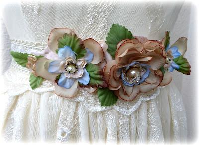 Wedding flower belt tutorial