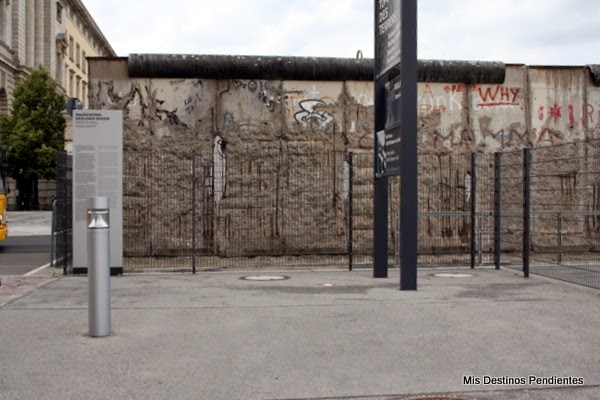 Fragmento de Muro en Topografía del Terror (Berlín, Alemania)