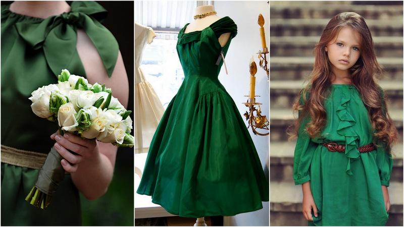 a586b05c ... både store & små om velge grønne brudepikekjoler - Lekkert! Smykkene  kan være smaragdgrønne og du finner masse fint å velge i hos Etsy - både  kjoler, ...