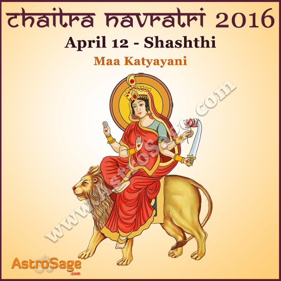 Presenting Chaitra Navratri sixth day Sashthi today here.