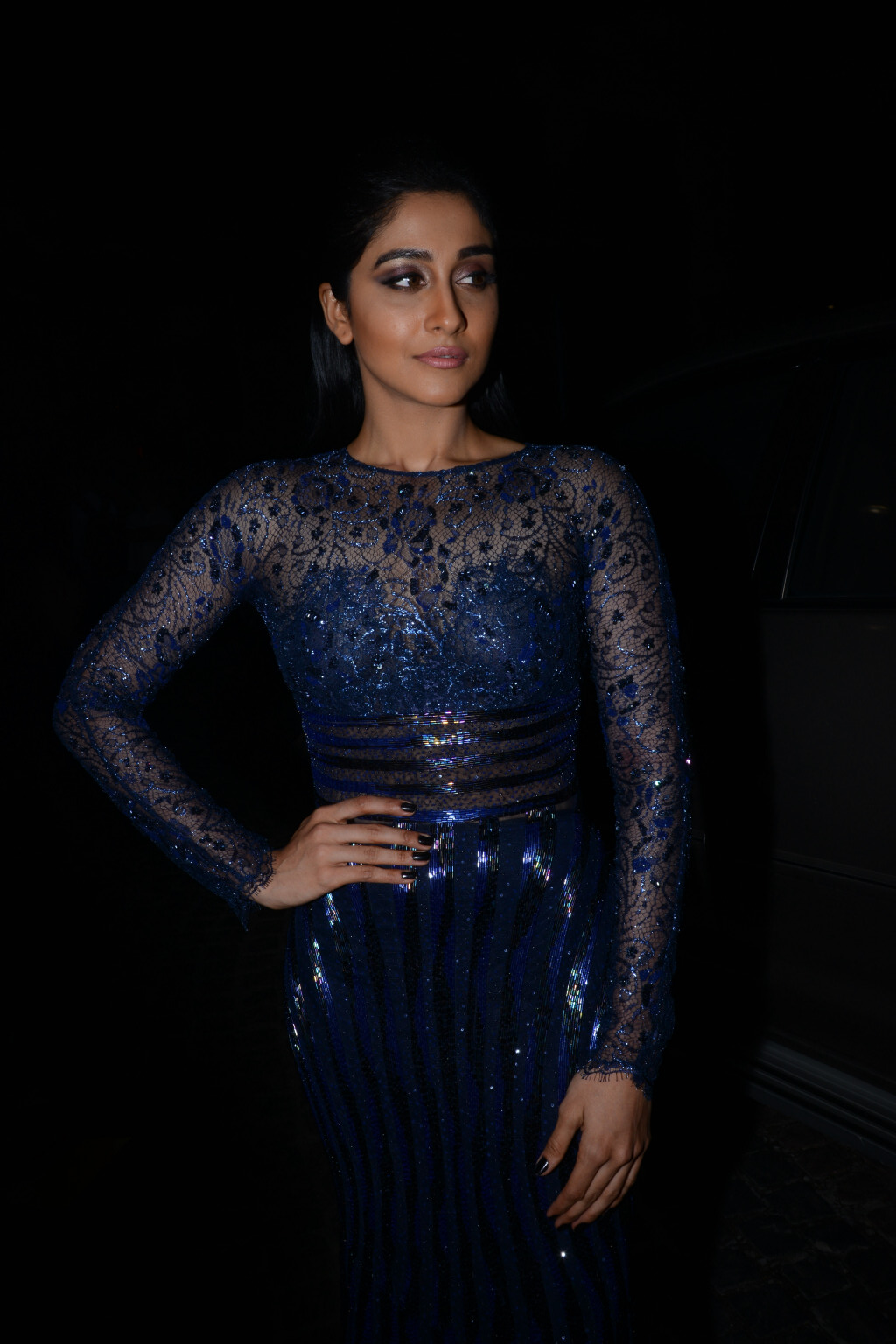 Regina Stills At Filmfare Awards In Blue Dress