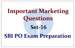 Important Marketing Questions- Set 16