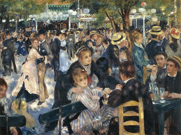 Pierre Auguste Renoir Ball at the Moulin de la Galette