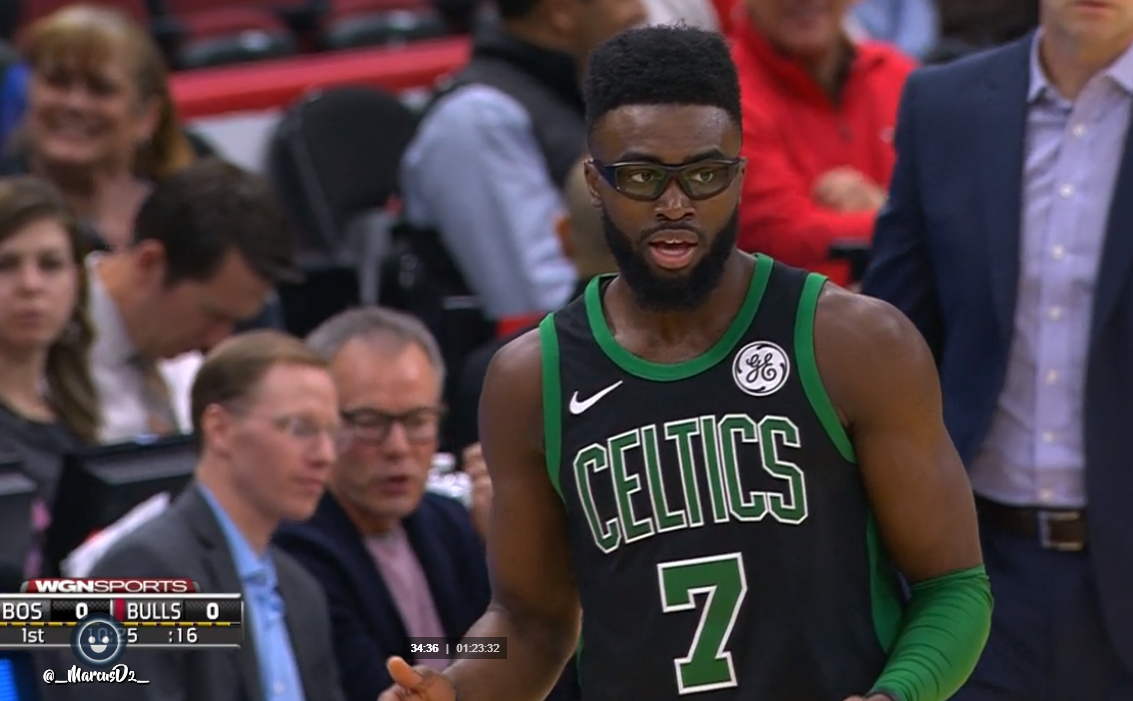 super popular b37de 065ce Sport GIFs & Videos: Jaylen Brown in black Celtics jersey ...