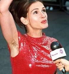 Famosas con axilas peludas - Julia Roberts