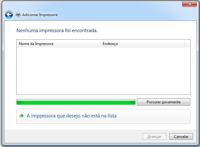 Adicionando impressora do Ubuntu no Windows manualmente