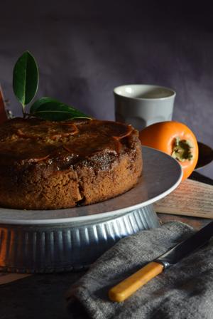 recetario-dulce-caqui-reto-disfruta-noviembre-pastel-invertido