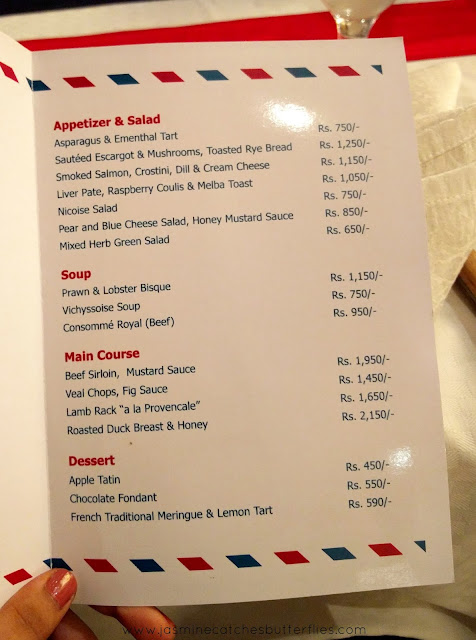 Menu of French Food Festival at Asia Live, Avari Towers