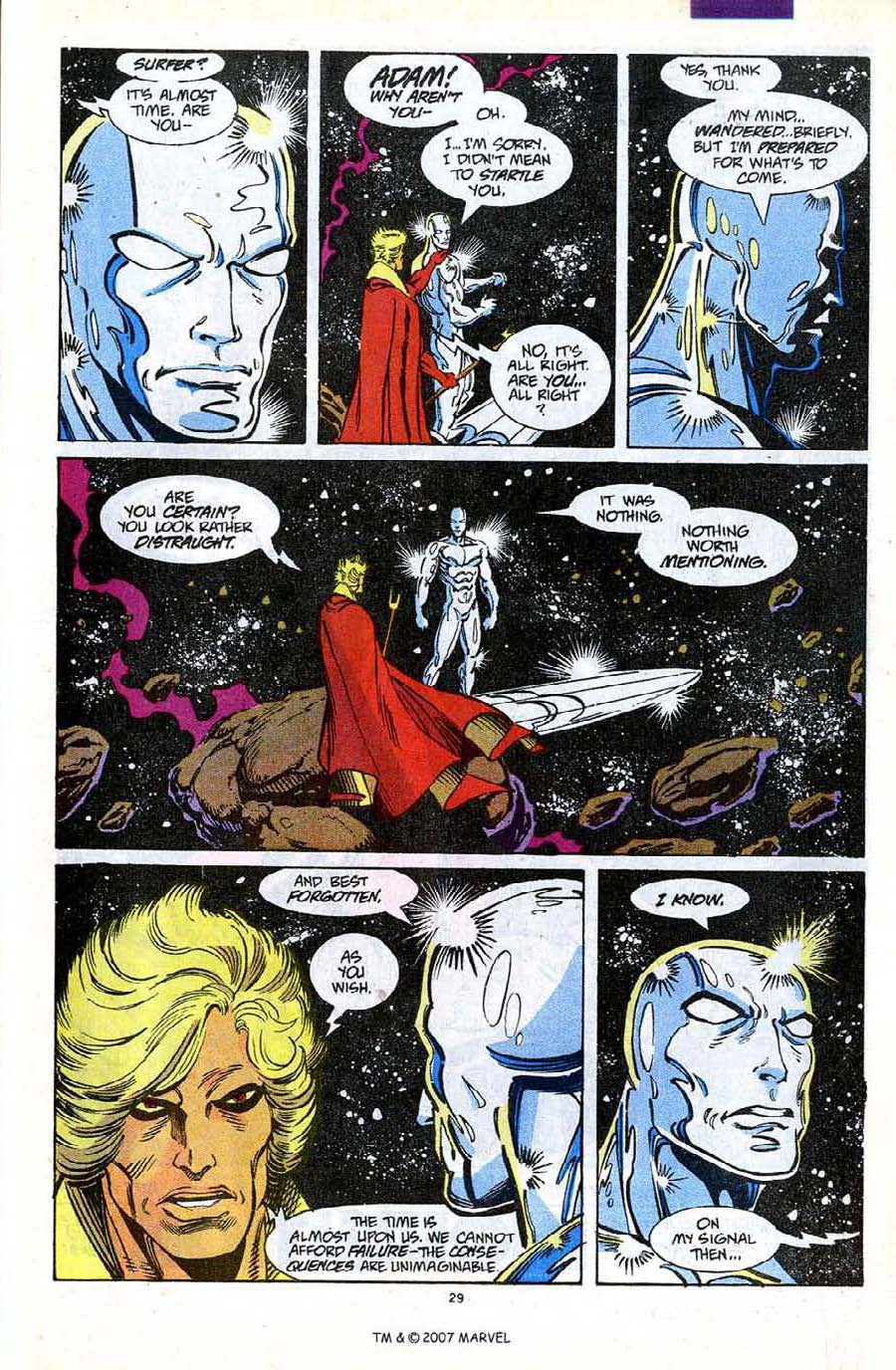 Read online Silver Surfer (1987) comic -  Issue #56 - 31