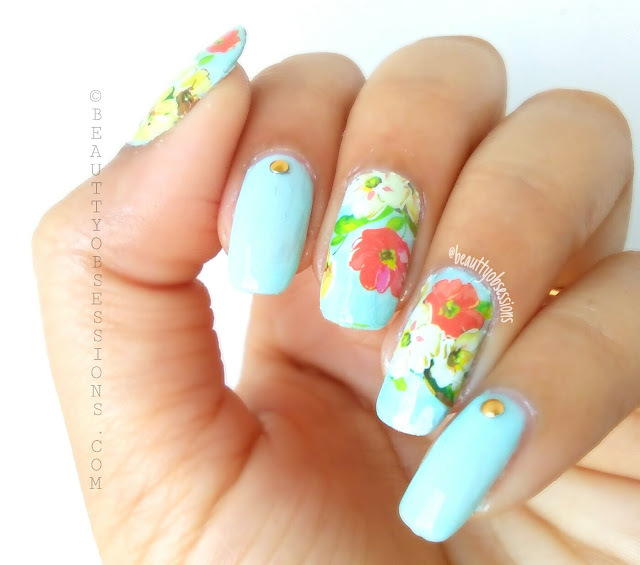 Flower Pattern Nailart Tutorial | Feeling Spring-y Already...