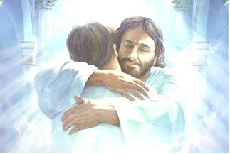 Image result for jesus christ embracing someone