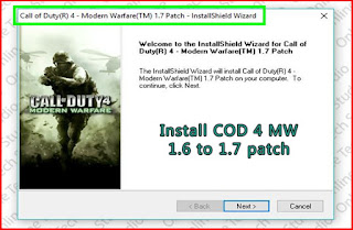 Install COD 4 MW 1.6 to 1.7 patch