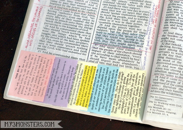 My 3 Monsters: Scripture Post-Its