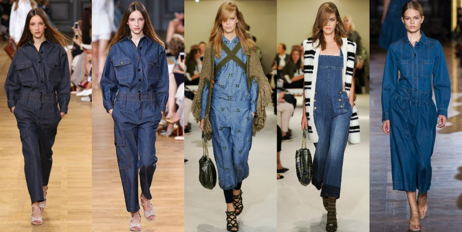Denim 2015 trend total look jumpsuit