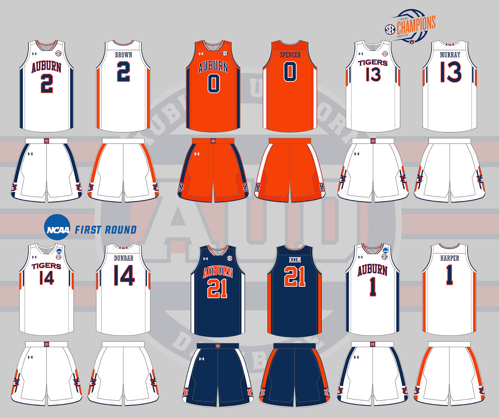 b57d7d5df8b Auburn Uniform Database  Basketball Uniforms