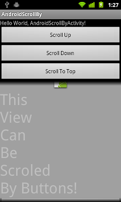 Scroll View - scrollBy() and scrollTo()