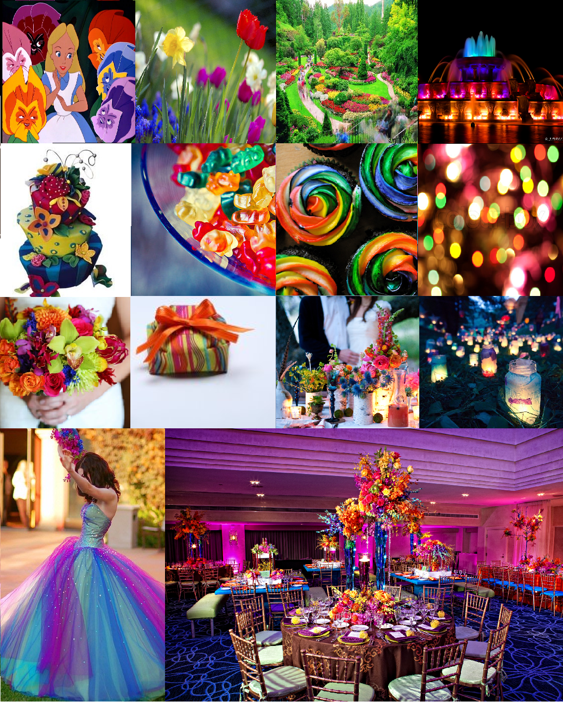 A Magical Wedding Guide: Inspiration For A Colorful Garden