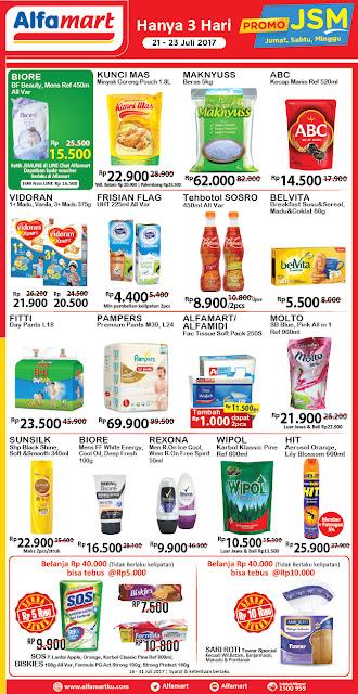 Promo Alfamart JSM (Jum'at Sabtu, Minggu) 21 Juli Hingga 3 Juli 2017