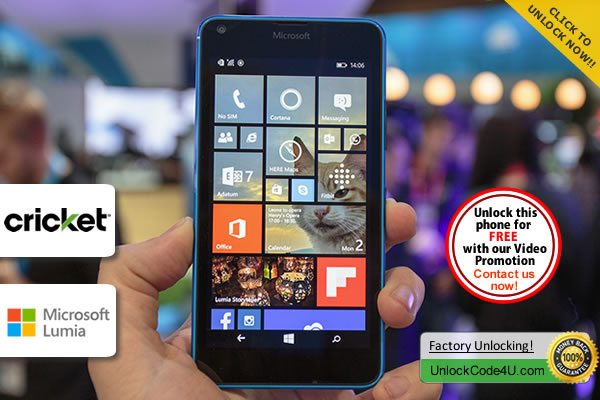 Factory Unlock Code Microsoft Lumia 640 from Cricket