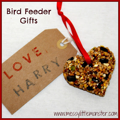 Bird feeder kid made gift idea