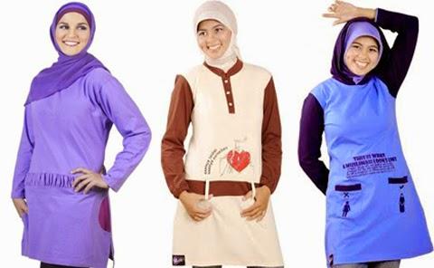 contoh kaos muslim wanita gemuk