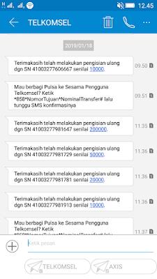 Bukti Pembayaran Pulsa Gratis dari Aplikasi Nimo TV