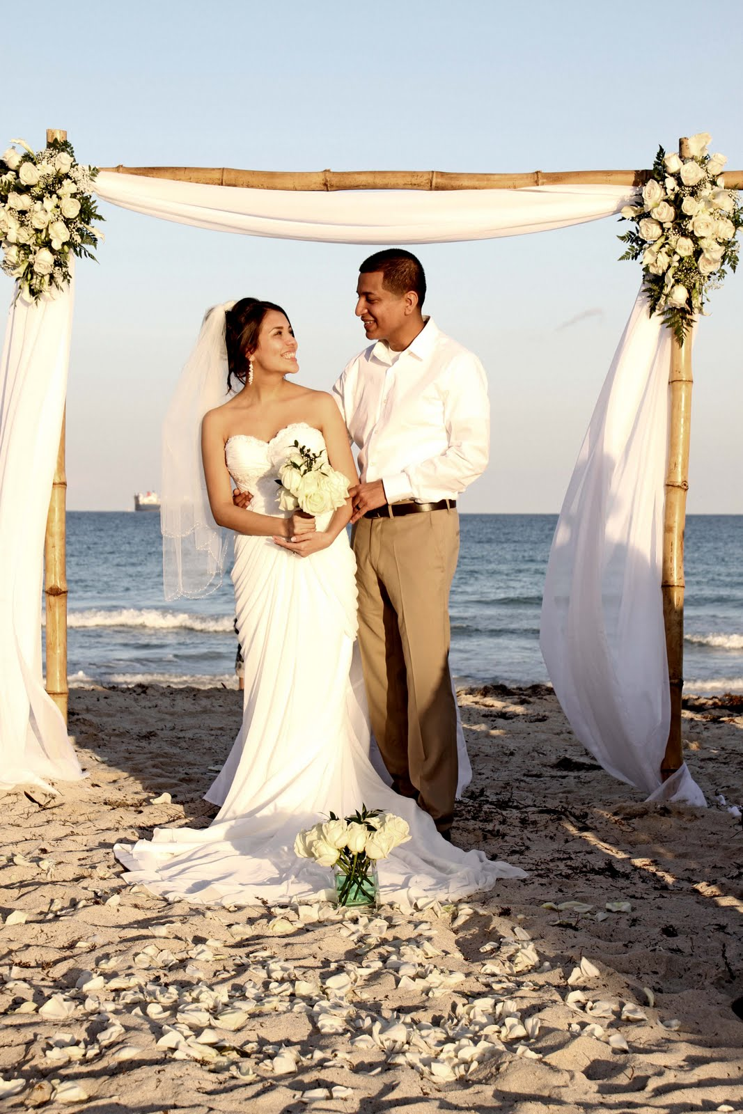 Affordable Beach Weddings 3057934387 Evelyn  Juans Miami Beach Wedding  South Pointe Park