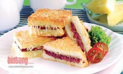 Resep dan Cara Membuat Sandwich Kornet Keju Enak