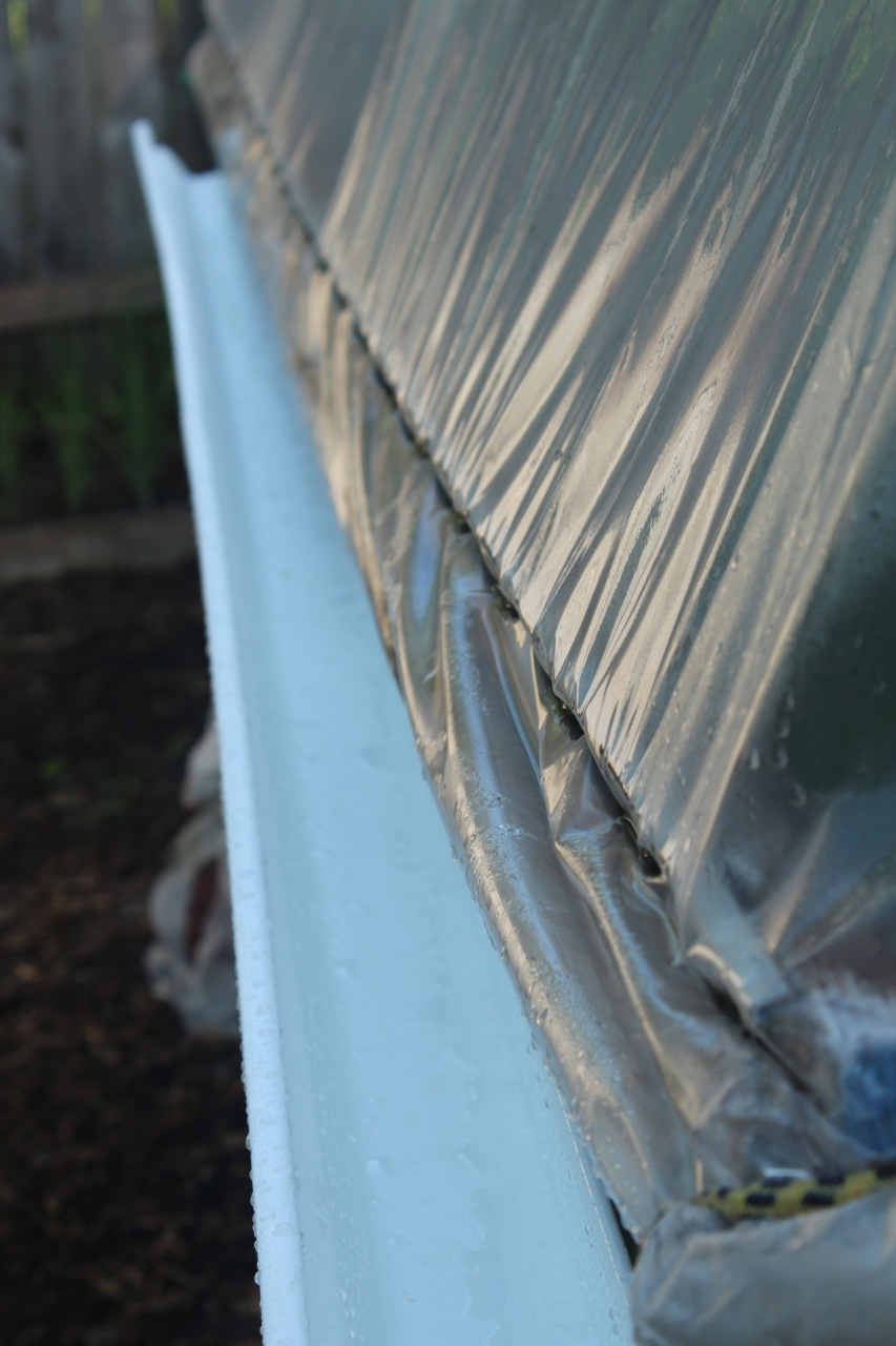 Hoop House Gutters Put Your Shovel Where Your Mouth Is